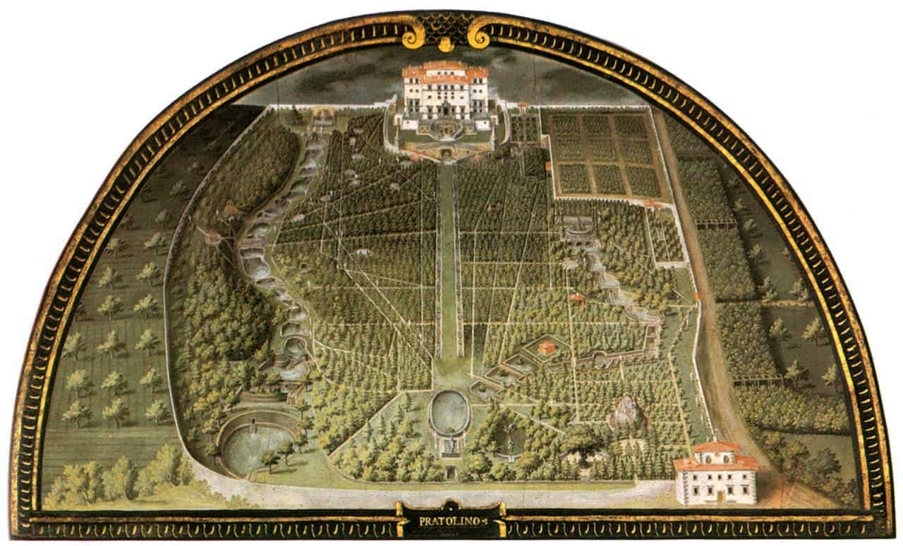 plan de jardin italien