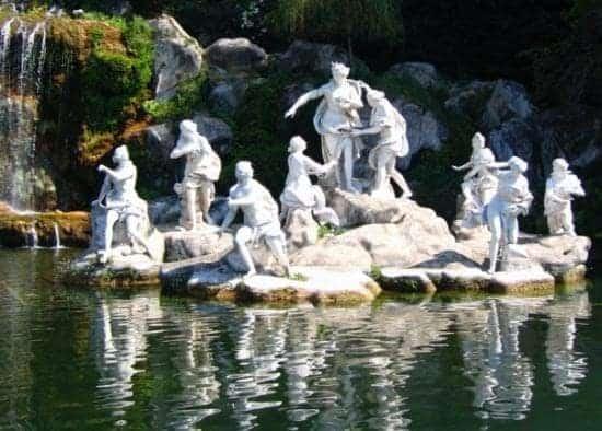 statue jardin italien
