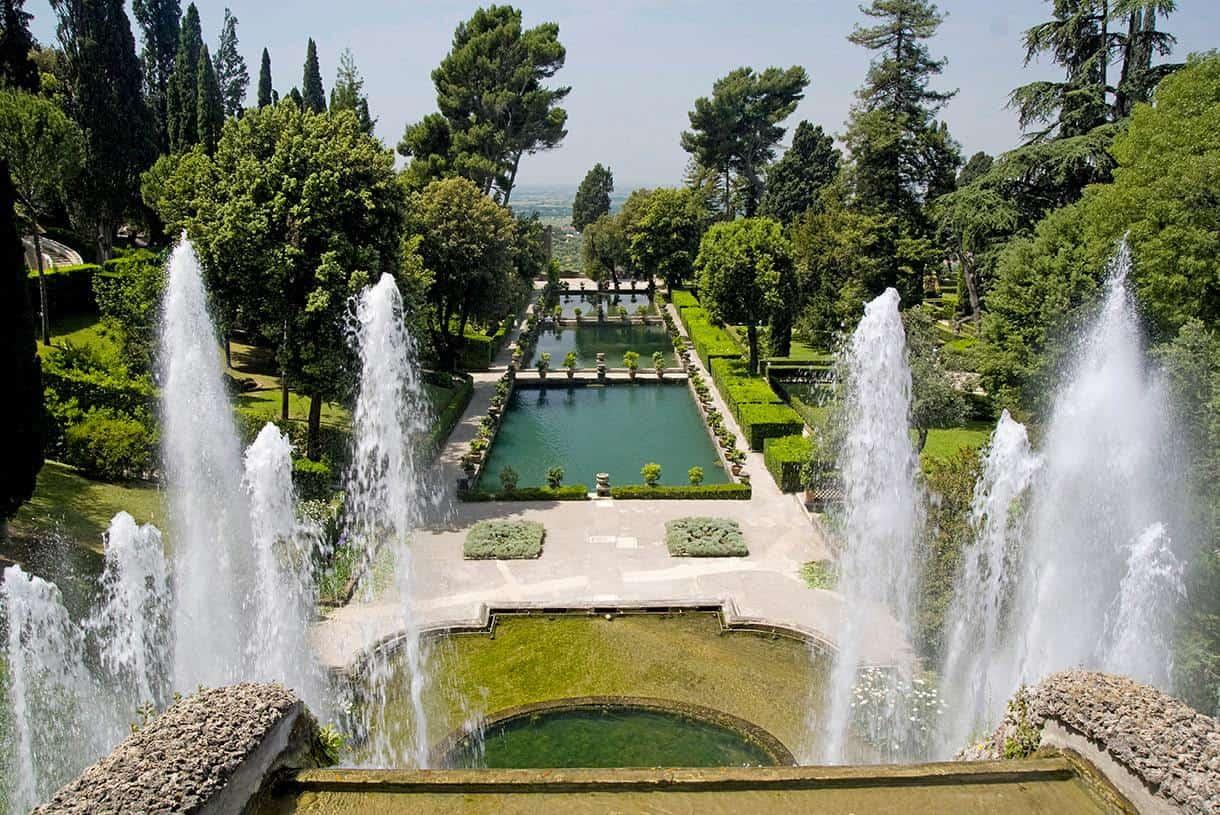 escalier de jardin italien