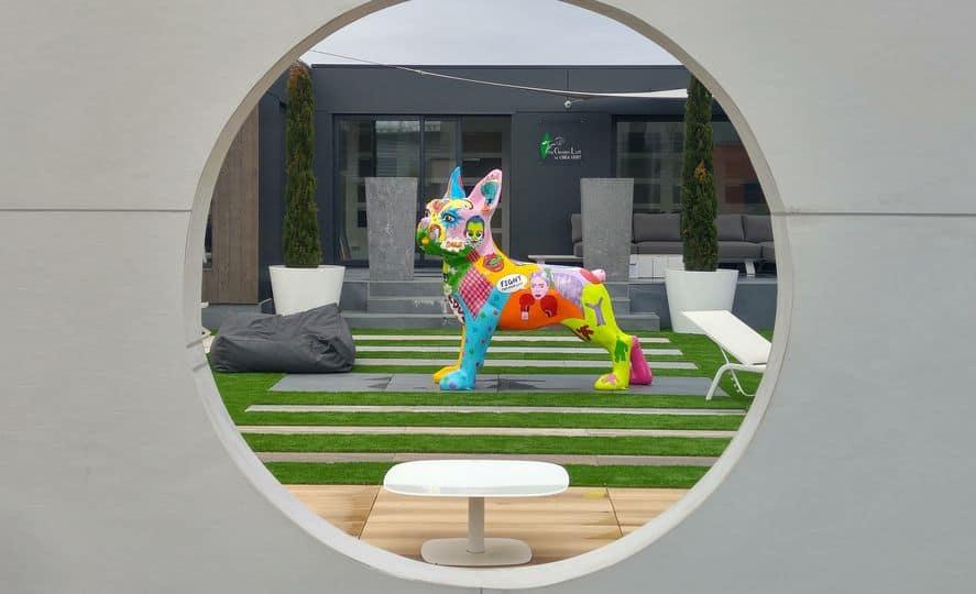 sculpture de jardin contemporain