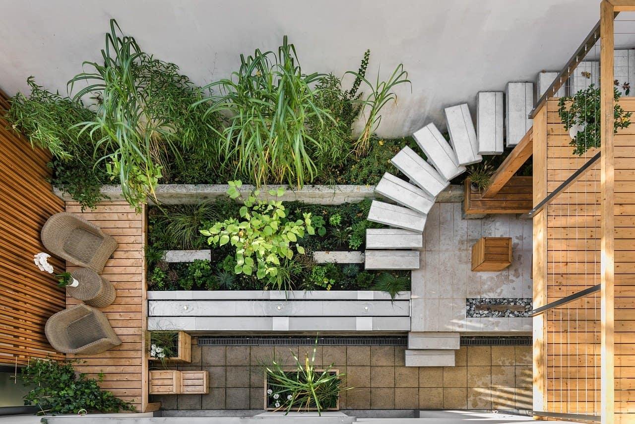 exemple de jardin contemporain