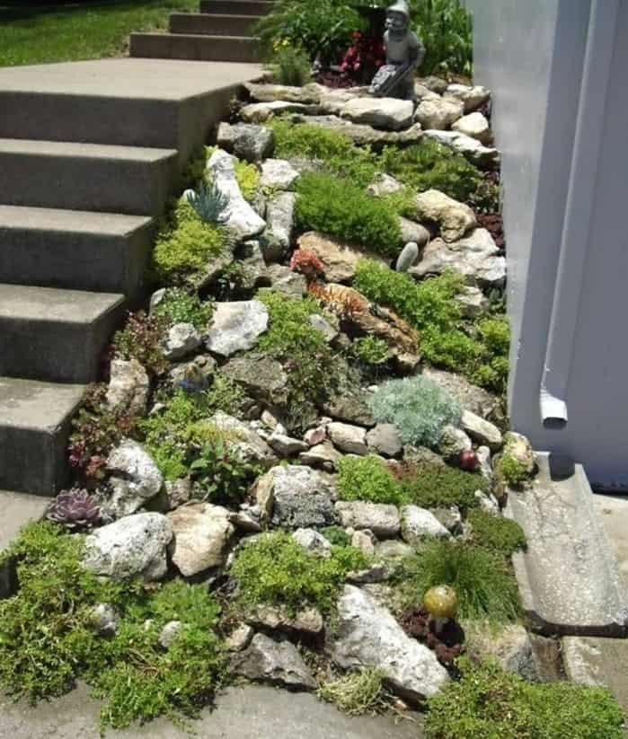 jardin de rocaille talus