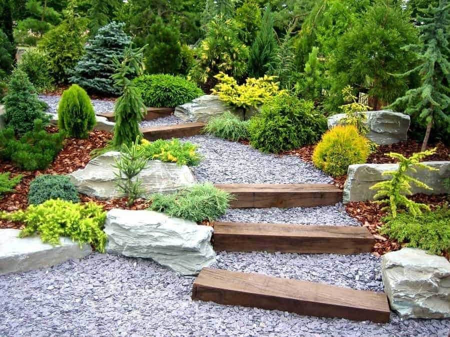 rivière sèche jardin