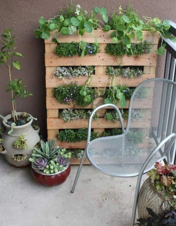 jardin en palette