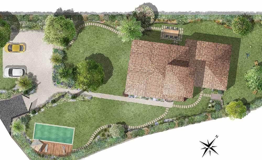 modèle plan jardin
