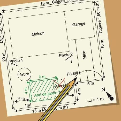 modèle de plan de jardin