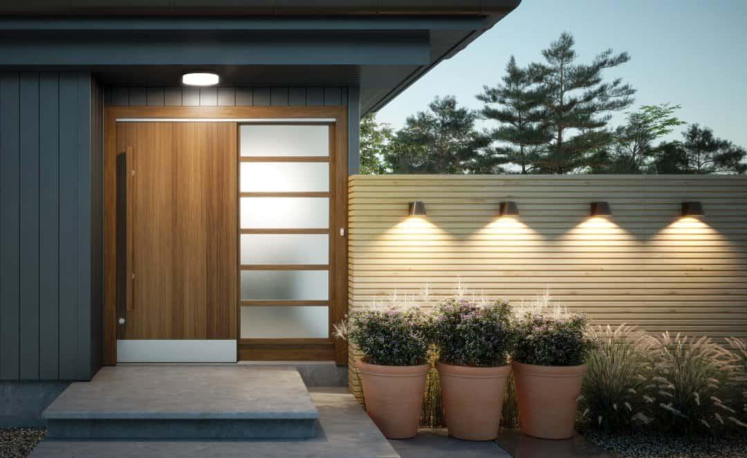 éclairage extérieur garage
