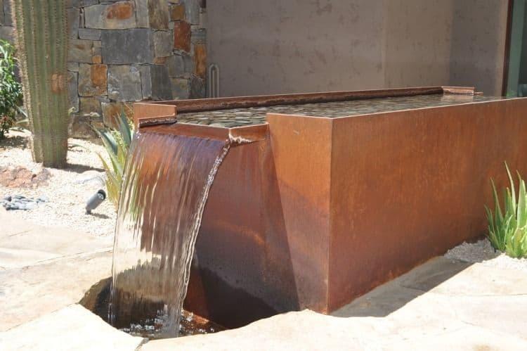 bassin en métal