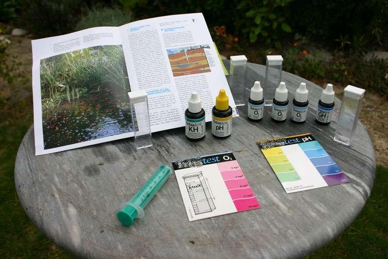 test eau bassin de jardin