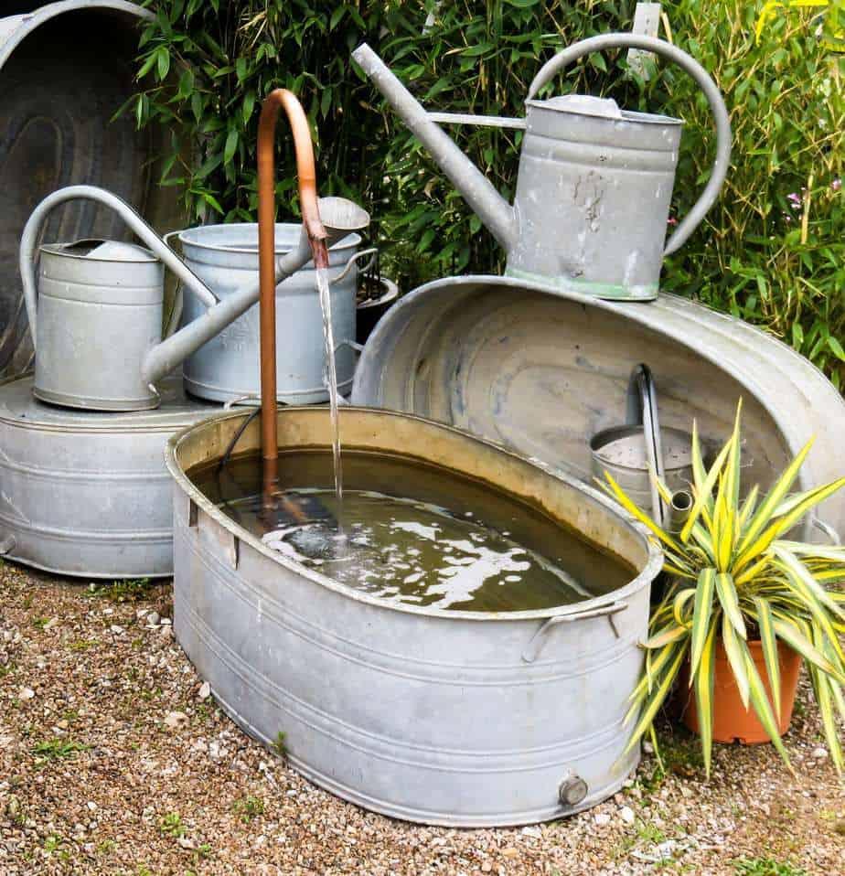 bricolage fontaine de jardin
