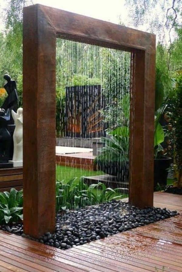 fontaine en métal pour jardin