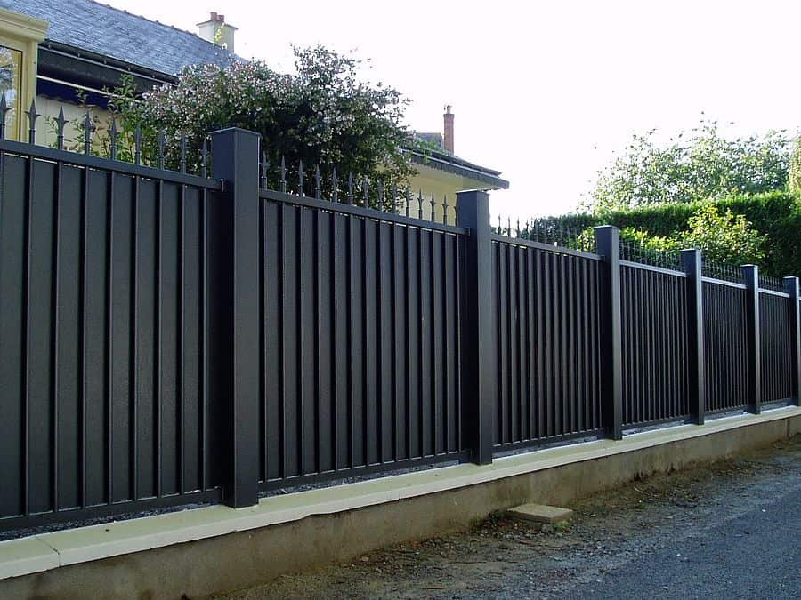 exemple clôture en fer forgé