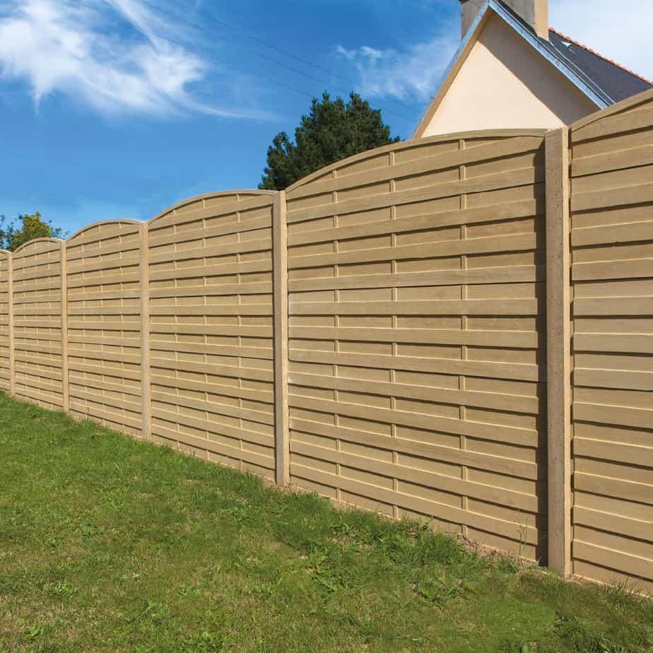 mur de clôture en béton