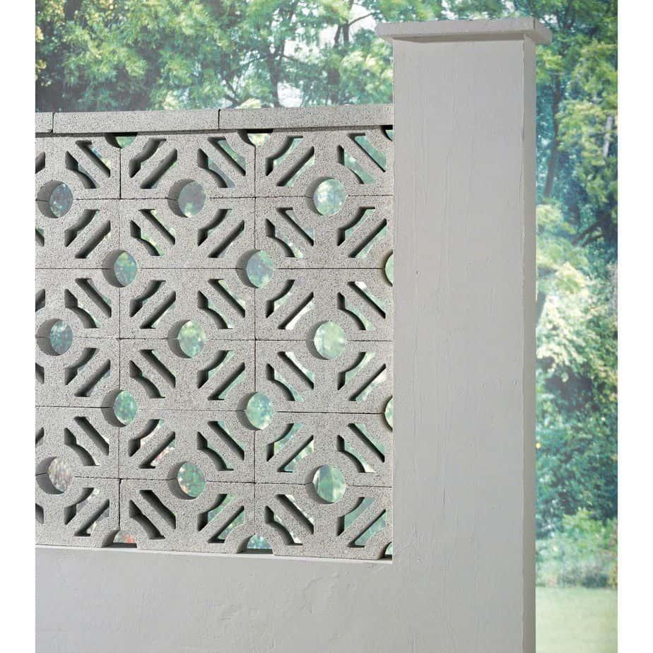 clôture en béton lisse