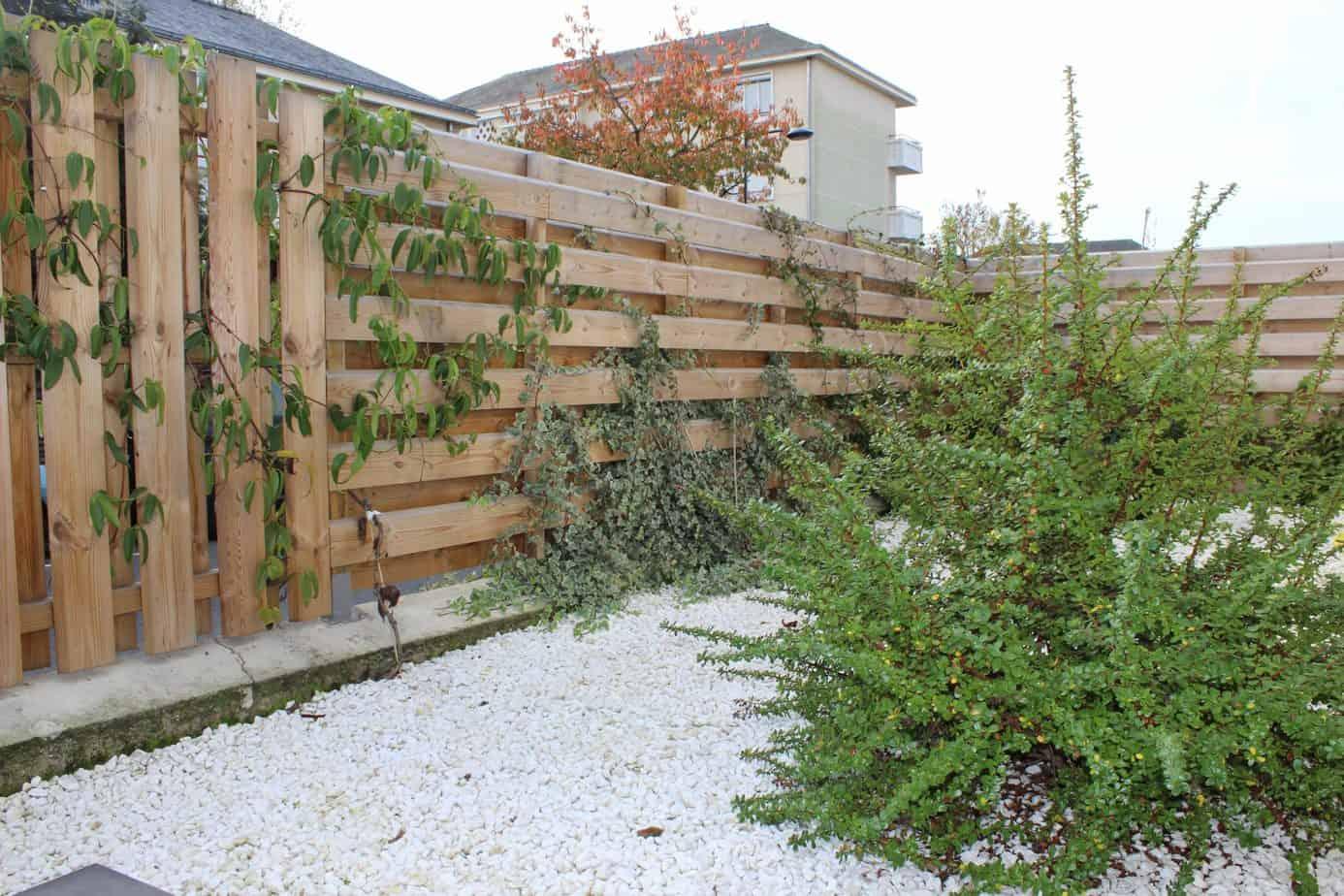 clôture en bois de palette