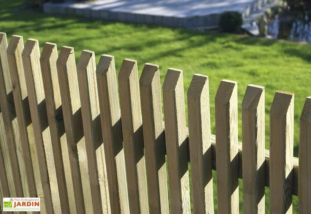 cloture bois verticale