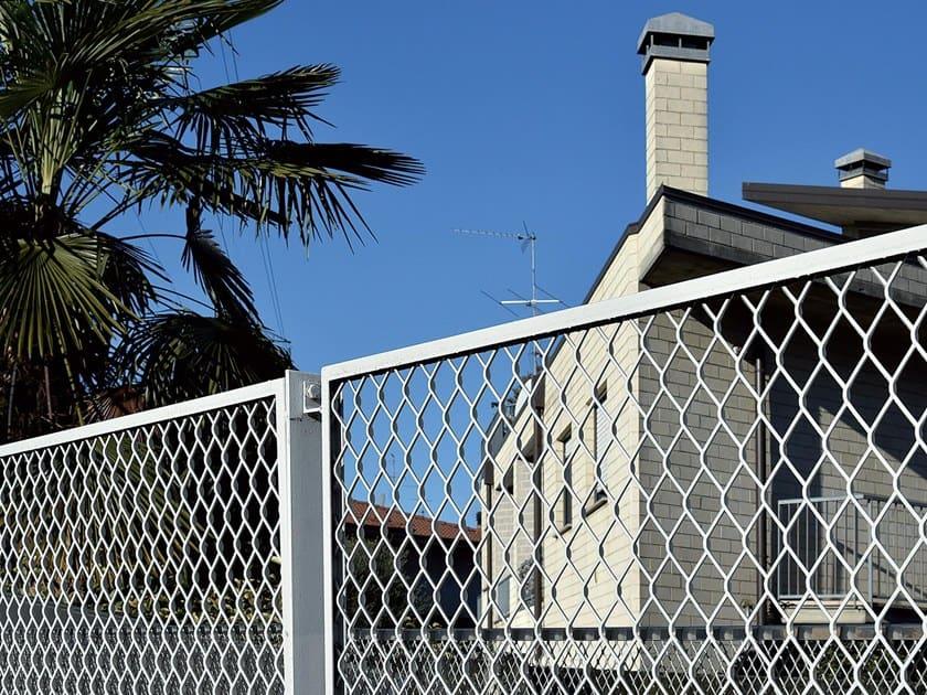 clôture en maille d'acier