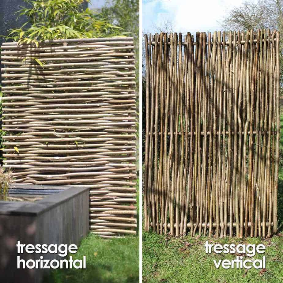 clôtures en osier vivant tressé