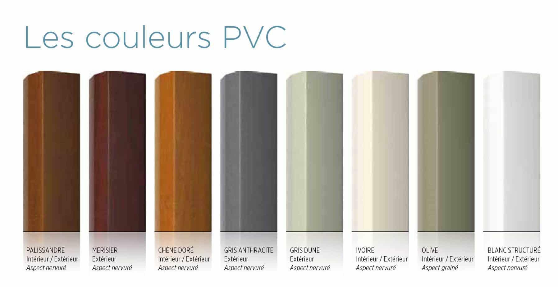 couleurs cloture en pvc