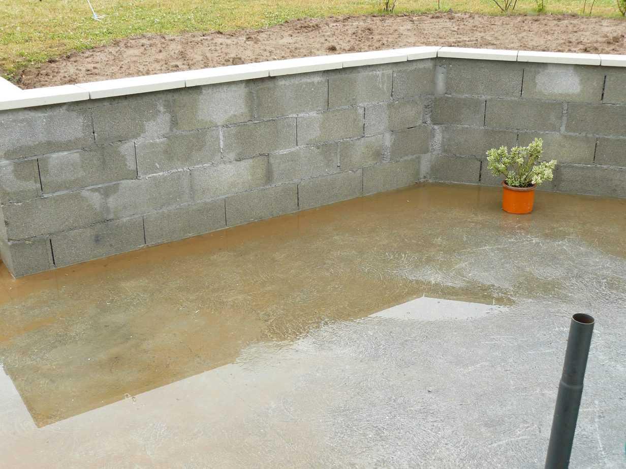 dégât des eaux terrasse