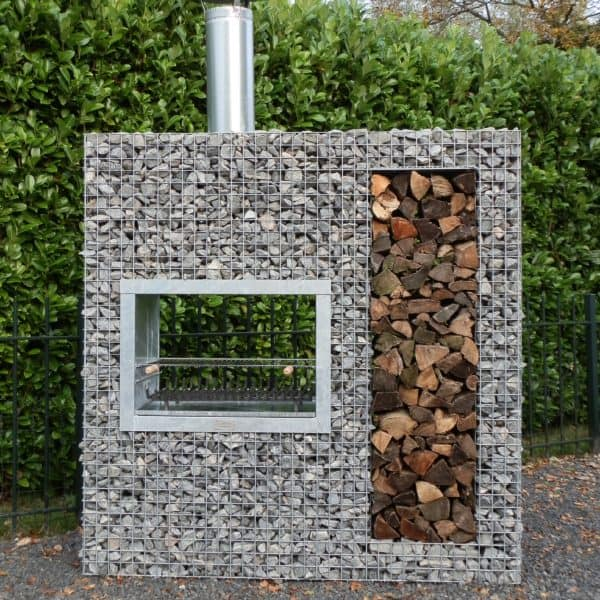barbecue en gabion