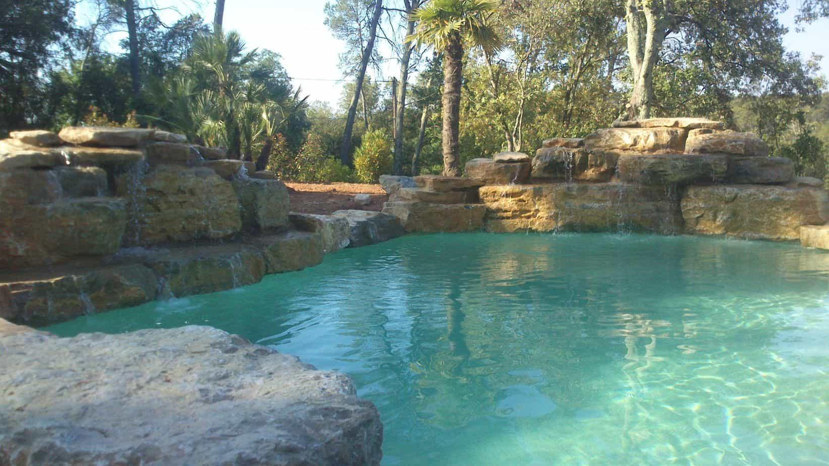 enrochement piscine