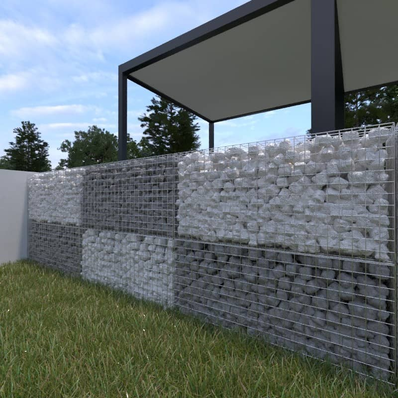 Photo mur en gabion enrochement
