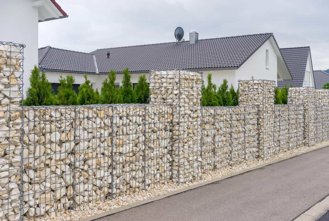 Photo clôture gabion