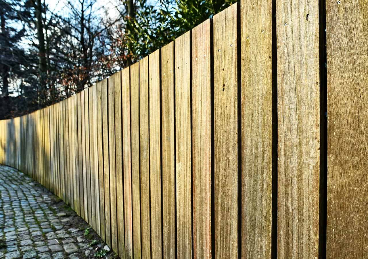 image clôture en bois