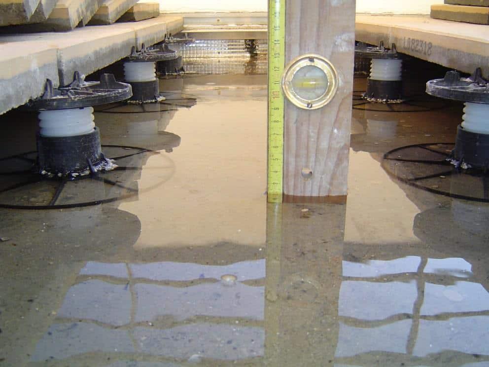infiltration d'eau terrasse