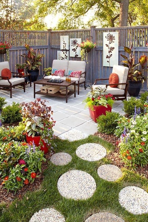 fleur pour patio