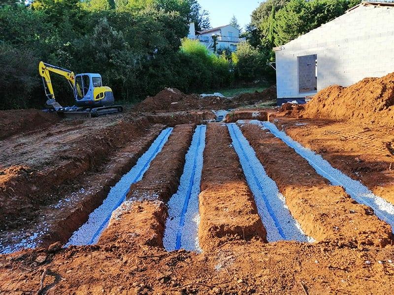 terrassement de drainage