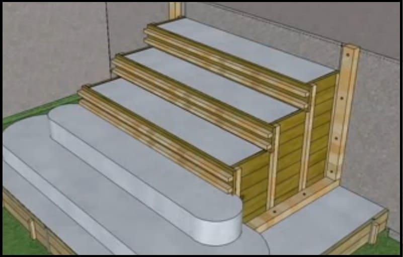 comment construire un escalier extérieur en béton