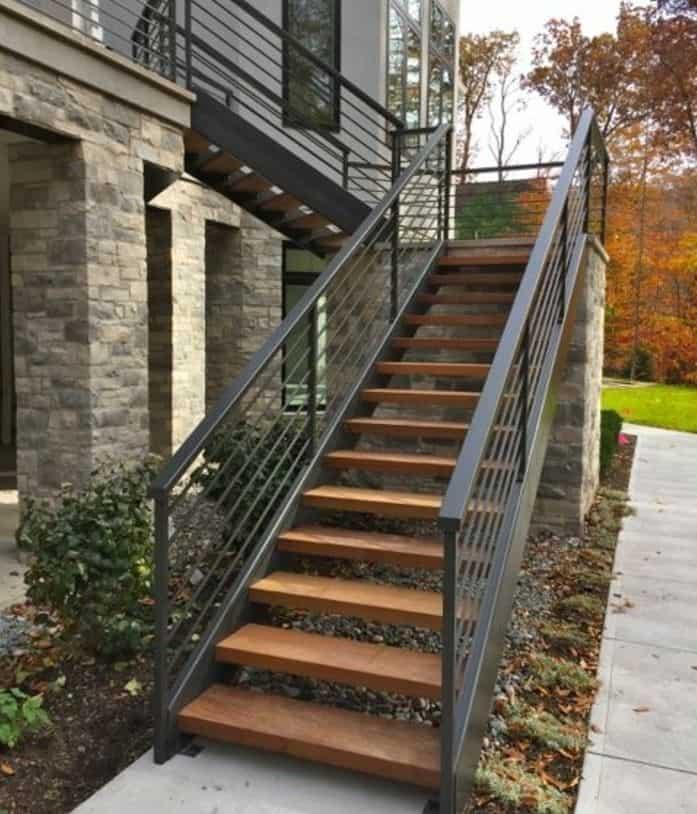 escalier en bois pour extérieur