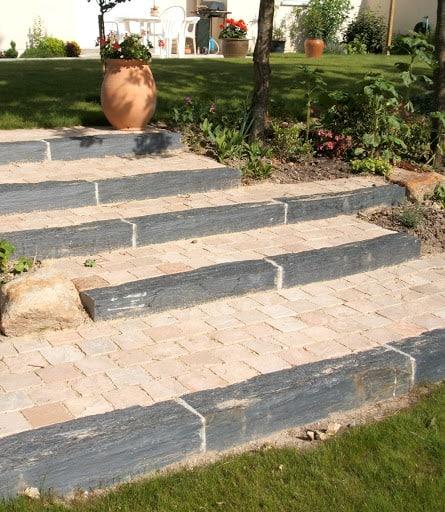 escalier extérieur de jardin