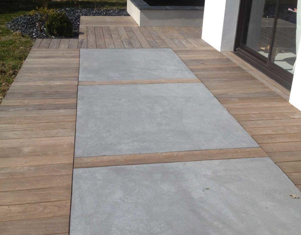 mix terrasse béton et bois